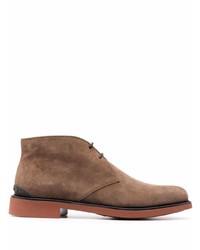 Коричневые замшевые ботинки дезерты от Tod's