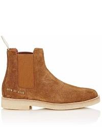 Коричневые замшевые ботинки челси