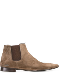 Мужские коричневые замшевые ботинки челси от Alberto Fasciani
