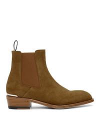 Мужские коричневые замшевые ботинки челси от Alexander McQueen