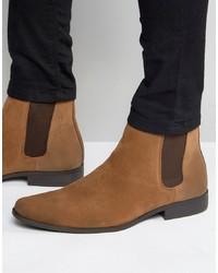 Мужские коричневые замшевые ботинки челси от ASOS DESIGN