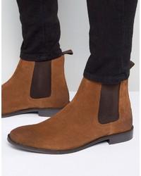 Мужские коричневые замшевые ботинки челси от Asos
