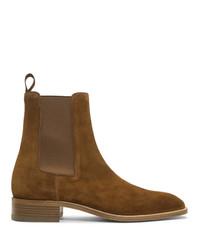 Мужские коричневые замшевые ботинки челси от Christian Louboutin