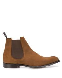 Мужские коричневые замшевые ботинки челси от Church's