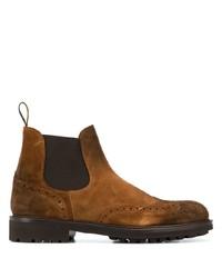 Мужские коричневые замшевые ботинки челси от Doucal's