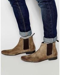 Мужские коричневые замшевые ботинки челси от Frank Wright
