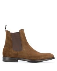 Мужские коричневые замшевые ботинки челси от Green George