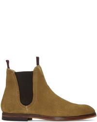 Мужские коричневые замшевые ботинки челси от H By Hudson