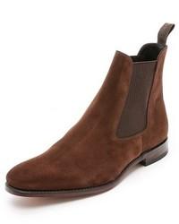 Мужские коричневые замшевые ботинки челси от Loake