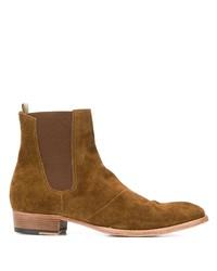 Мужские коричневые замшевые ботинки челси от Officine Creative