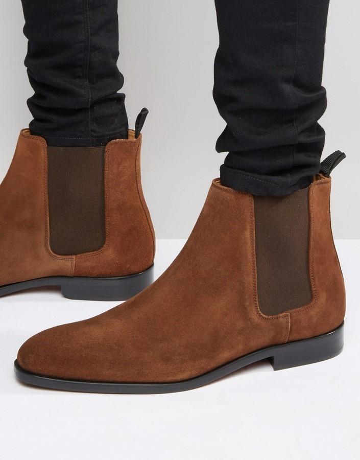 1a809caa Мужские коричневые замшевые ботинки челси от Paul Smith, 10 170 руб ...