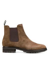 Мужские коричневые замшевые ботинки челси от Polo Ralph Lauren