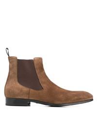 Мужские коричневые замшевые ботинки челси от Santoni