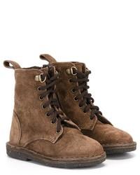 Детские коричневые замшевые ботинки для мальчику от Pépé