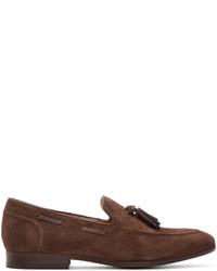 Мужские коричневые замшевые лоферы с кисточками от H By Hudson
