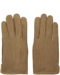 Мужские коричневые замшевые перчатки от A.P.C.