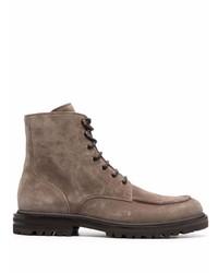 Мужские коричневые замшевые повседневные ботинки от Brunello Cucinelli