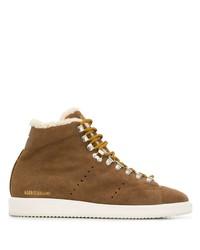 Мужские коричневые замшевые повседневные ботинки от Golden Goose