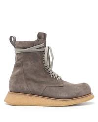 Мужские коричневые замшевые повседневные ботинки от Rick Owens