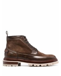Мужские коричневые замшевые повседневные ботинки от Santoni