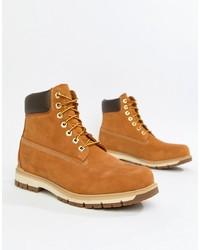 Мужские коричневые замшевые рабочие ботинки от Timberland
