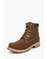 Мужские коричневые замшевые рабочие ботинки от Weinbrenner by Bata