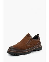 Мужские коричневые замшевые слипоны от Dino Ricci Trend