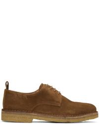 Мужские коричневые замшевые туфли дерби от AMI Alexandre Mattiussi