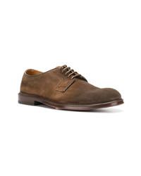 Мужские коричневые замшевые туфли дерби от Doucal's