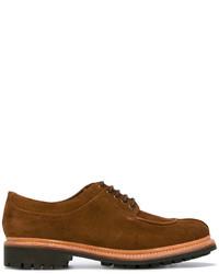 Мужские коричневые замшевые туфли дерби от Grenson