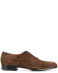 Мужские коричневые замшевые туфли дерби от Santoni