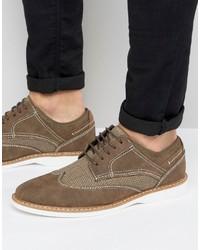 Мужские коричневые замшевые туфли дерби от Steve Madden
