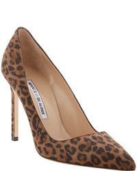 Коричневые замшевые туфли с леопардовым принтом