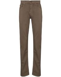 Мужские коричневые зауженные джинсы от Paige