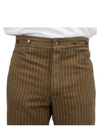 Коричневые классические брюки в вертикальную полоску