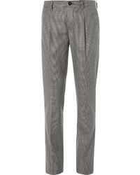 """Коричневые классические брюки с узором """"гусиные лапки"""""""
