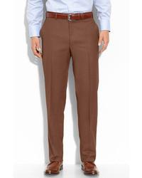 Коричневые классические брюки