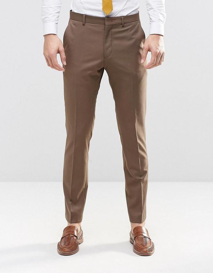 ... Мужские коричневые классические брюки от Asos ... 2f92a3051cdd0