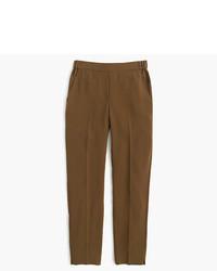 Женские коричневые классические брюки от J.Crew