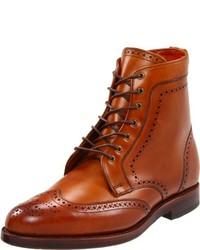 Коричневые кожаные ботинки броги