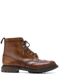 Коричневые кожаные ботинки броги от Church's