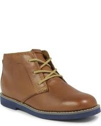 Коричневые кожаные ботинки дезерты