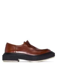 Коричневые кожаные ботинки дезерты от Adieu Paris