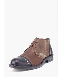 Коричневые кожаные ботинки дезерты от Airbox
