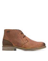Коричневые кожаные ботинки дезерты от Barbour