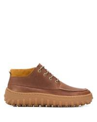 Коричневые кожаные ботинки дезерты от Camper
