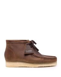 Коричневые кожаные ботинки дезерты от Clarks Originals