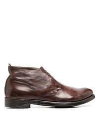 Коричневые кожаные ботинки дезерты от Officine Creative