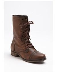 Коричневые кожаные ботинки на шнуровке