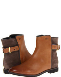 Коричневые кожаные ботинки челси